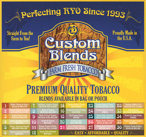 Custom Blends roll your own tobacco