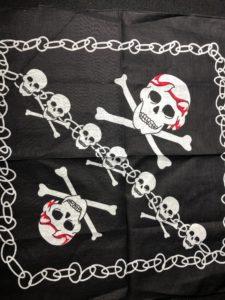 skull pattern bandana