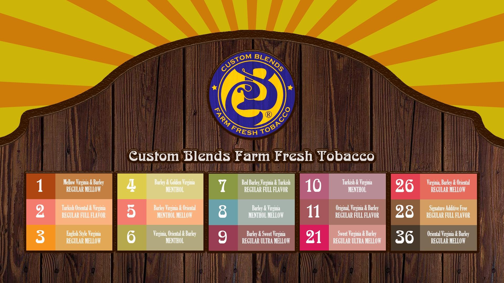Custom Blend Flavors