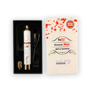 yocan white with red spatter evolve plus