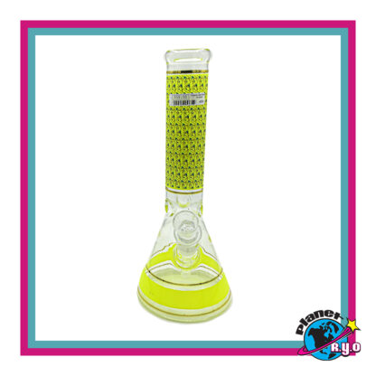 Bright Yellow Textile Design Water Pipe