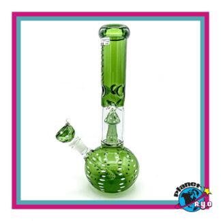 Green Mushroom Water Pipe w/ Percolator