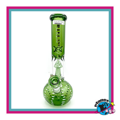 Green Water Pipe w/ Mushroom Percolator