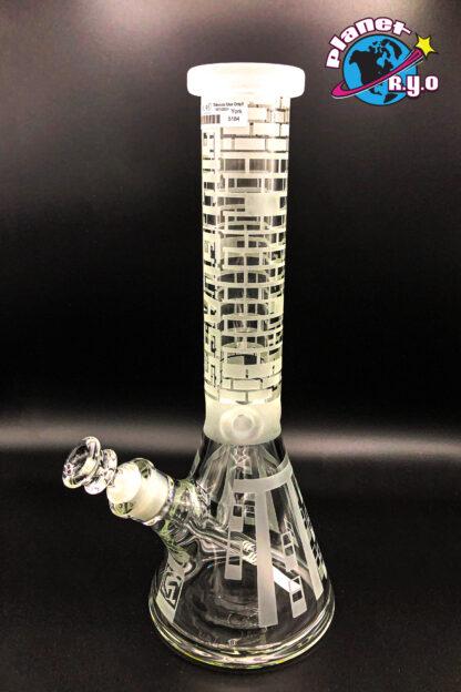Brick Pattern Gili Glass Water Pipe