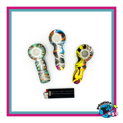 Artistic Silicone Hand Pipes