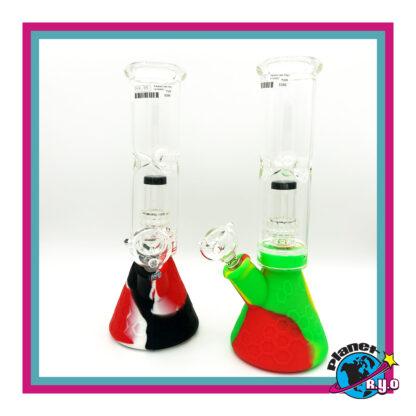 Silicone Beaker Bottom Glass Top