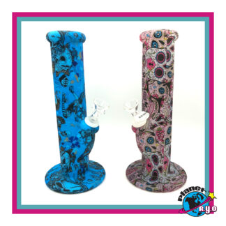 Pattern Printed Silicone Water Pipes - Waxmaid