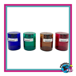 "3""x 2.5""x 2.5"" Assorted Color Vacuum Sealed Containers"
