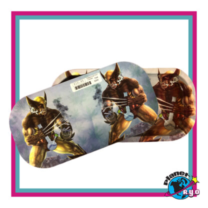 Smoking Wolverine Rolling Tray w/ Magnetic Cover