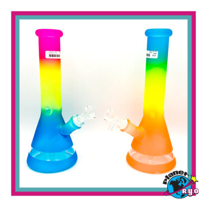 Rainbow Beaker w/ Ice Pinch - 10""